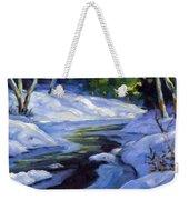 Luminous Snow Weekender Tote Bag