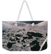 Lunar Rover At Rim Of Camelot Crater Weekender Tote Bag by NASA / Science Source