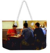 Lunch At The Cafe Downtown Weekender Tote Bag
