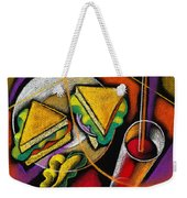 Lunch Weekender Tote Bag by Leon Zernitsky