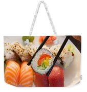 Lunch With  Sushi  Weekender Tote Bag
