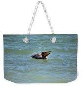 Lunchtime Pelican  Weekender Tote Bag
