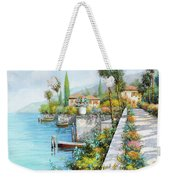 Lungolago Weekender Tote Bag by Guido Borelli