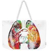 Lungs And Heart Weekender Tote Bag