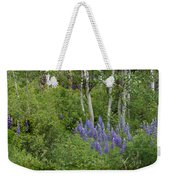 Lupine And Aspens Weekender Tote Bag