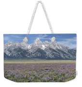 Lupine And Grand Tetons Weekender Tote Bag by Sandra Bronstein