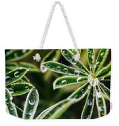 Lupine Leaves Decorated With Dew Drops Weekender Tote Bag