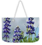 Lupines Against The Sky Weekender Tote Bag