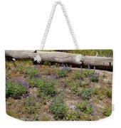 Lupines And A Log Weekender Tote Bag