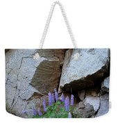 Lupines And Rock Face Weekender Tote Bag