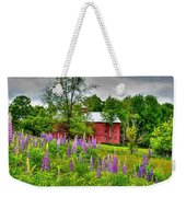 Lupines And The Red Barn Weekender Tote Bag