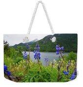 Lupines And Water Weekender Tote Bag