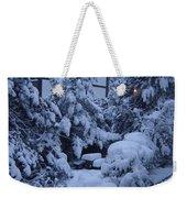 Luscious Snowfall Weekender Tote Bag