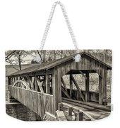 Luther Mills Bridge In Monochrome Weekender Tote Bag