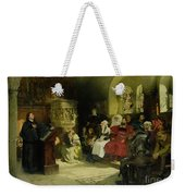 Luther Preaches Using His Bible Translation While Imprisoned At Wartburg Weekender Tote Bag