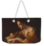 Luti, Benedetto Attributed To Saint Catherine Second Half Of The Xvii - Primer Cuarto Del Siglo Xv Weekender Tote Bag
