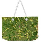 Luxembourg Green Traffic Map, Abstract Europe Map Weekender Tote Bag