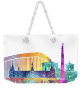 Luxembourg Landmarks Watercolor Poster Weekender Tote Bag