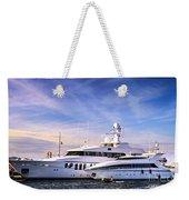 Luxury Yachts Weekender Tote Bag by Elena Elisseeva
