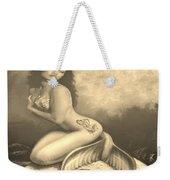 Lydia The Tattooed Mermaid In Sepia Weekender Tote Bag