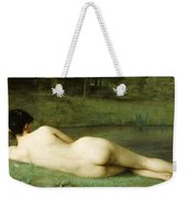 Lying Nude Weekender Tote Bag