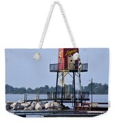 Lyman Harbor Lighthouse Weekender Tote Bag