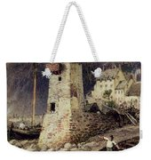 Lynmouth In Devonshire Weekender Tote Bag by Myles Birket Foster