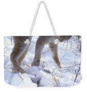 Lynx Captures Hare Weekender Tote Bag