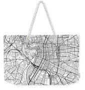 Lyon France Light Map Weekender Tote Bag