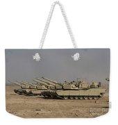 M1 Abrams Tanks At Camp Warhorse Weekender Tote Bag