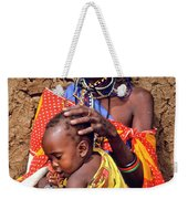 Maasai Grandmother And Child Weekender Tote Bag