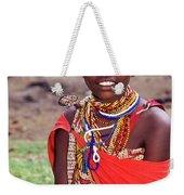 Maasai Teenager Weekender Tote Bag