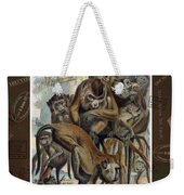 Macaques For Responsible Travel Weekender Tote Bag