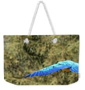 Macaw In Flight Weekender Tote Bag