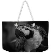 Macaw Portrait In Black And White Weekender Tote Bag