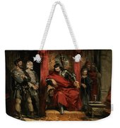 Macbeth Instructing The Murderers Employed To Kill Banquo Weekender Tote Bag