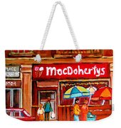 Macdohertys Icecream Parlor Weekender Tote Bag