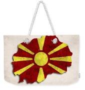 Macedonia Map Art With Flag Design Weekender Tote Bag