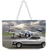 Mach 1 Mustang With P51  Weekender Tote Bag