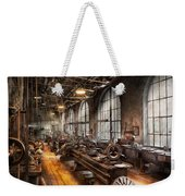 Machinist - A Room Full Of Lathes  Weekender Tote Bag by Mike Savad