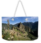 Machu Picchu And Bromeliad Weekender Tote Bag