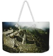 Machu Picchu In The Fog Weekender Tote Bag