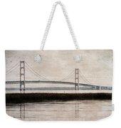 Mackinac Bridge Grunge Weekender Tote Bag