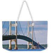 Mackinac Bridge Weekender Tote Bag by Michael Peychich
