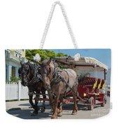 Mackinac Island Horse Carriage Weekender Tote Bag