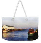 Mackinac Island Michigan Ferry Dock Weekender Tote Bag