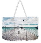 Mackinac Island Michigan Shuttle Pier Pa 02 Weekender Tote Bag