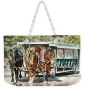 Mackinac Island Transportation - Surrey With The Fringe On Top Weekender Tote Bag