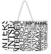 Maclay Word Art Weekender Tote Bag