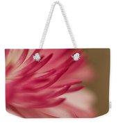 Macro - Pink Flower Weekender Tote Bag